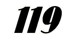 119 Number Font
