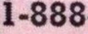 1-888 Number Font