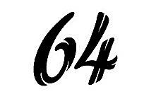 64 Number Font