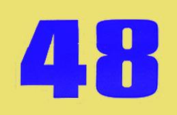 48 Number Font