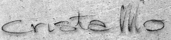 scritta Cristallo