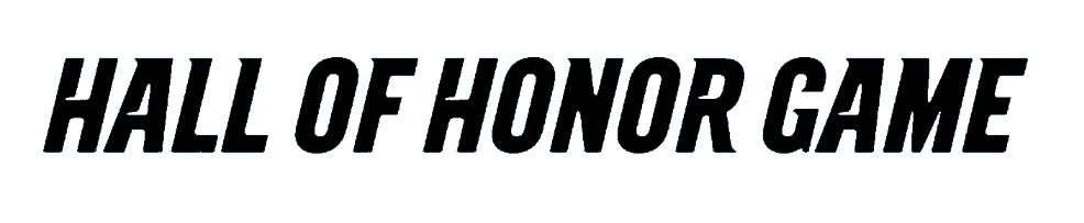 'Hall of Honor Game' Font - Used in Carolina Panthers Graphic Design