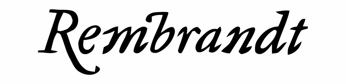 Rembrandt - font name please