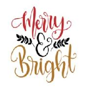 Font for Merry & Bright please.