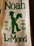 Need the font for Noah LeMond please.