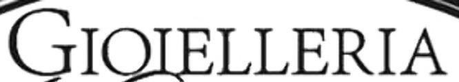 Font scritta GIOIELLERIA