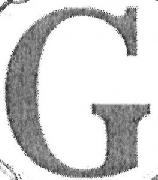 font lettera G