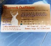 What is the font of Bluecreek Outfitters?