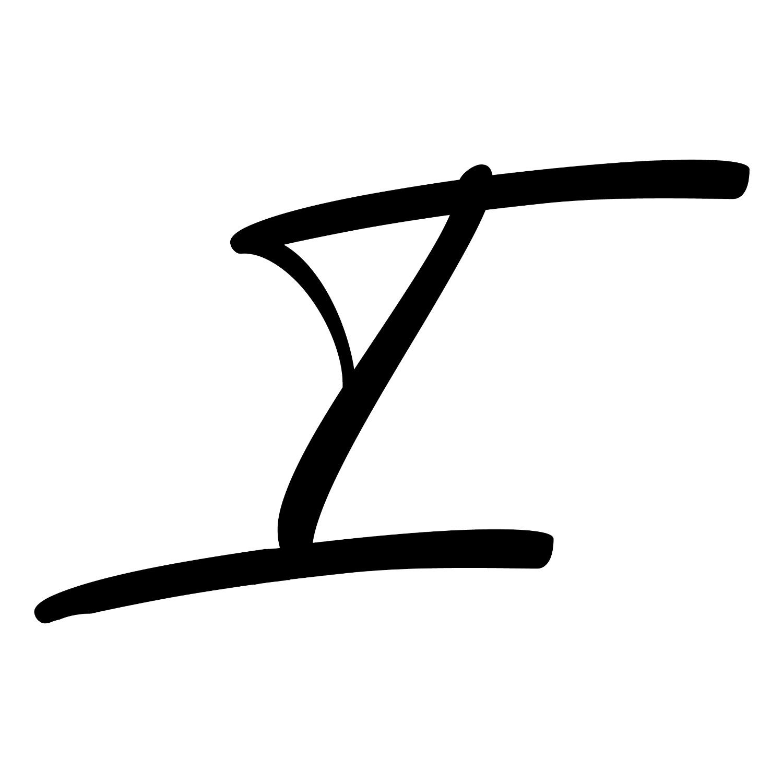 Capital I Lettering