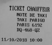 ticket of a receipt printer
