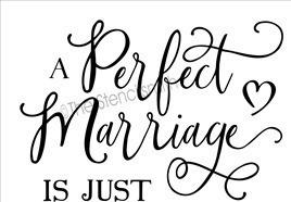 perfect marriage script font