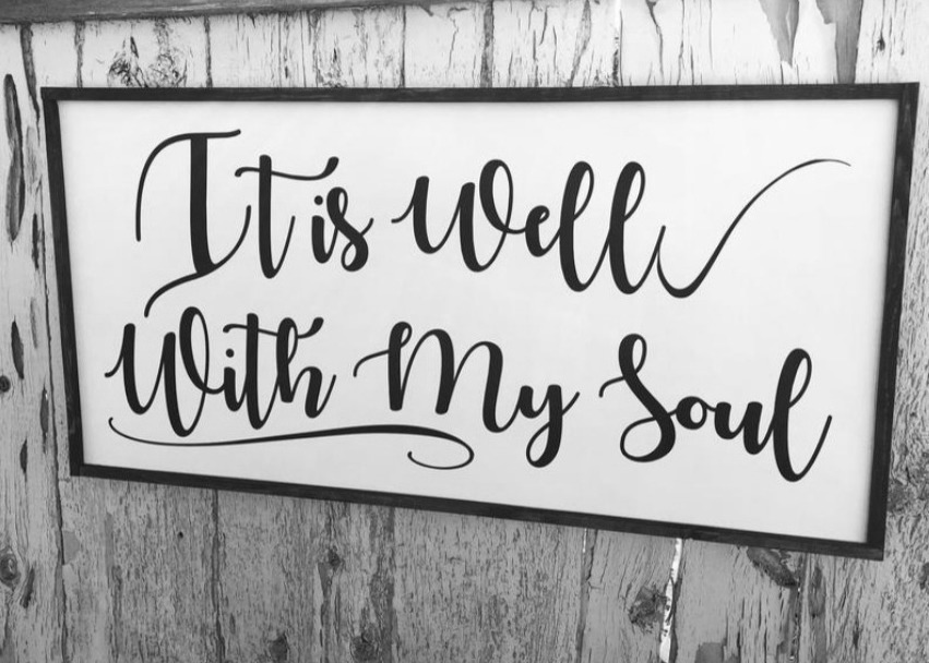 It is well with my soul font