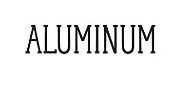 ALUMINIUM FONT