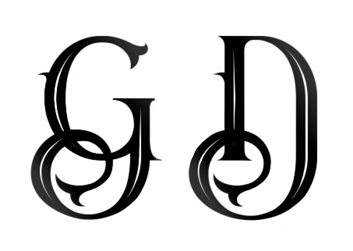 The letter G and D