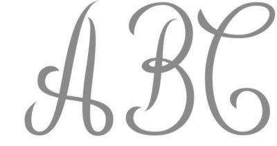 Script/monogram font