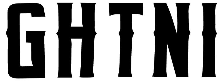 Rectangular, wedge serif font with spurs.