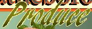 Brush font for the word produce?