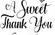 A Sweet Thank You