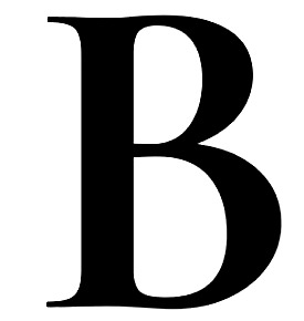 B from an old logo
