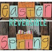Happy easter & happy spring font
