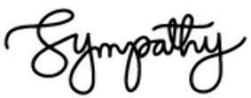 A font found on a sympathy card.