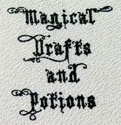 Gothic font with flourishes