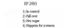 2003 EP font