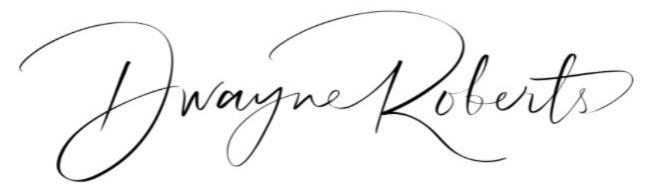 Dwayne Roberts urgent please name the font