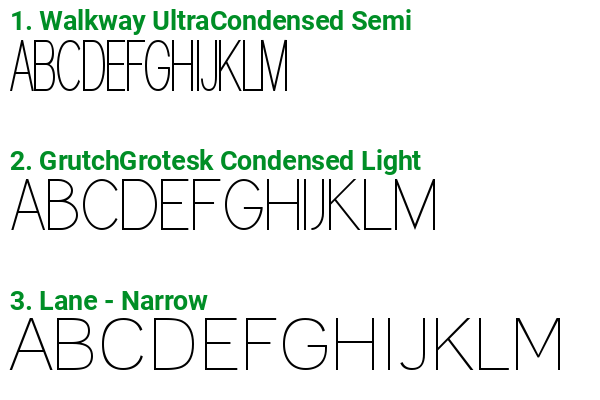 Fonts similar to Conto Condensed ExtraLight