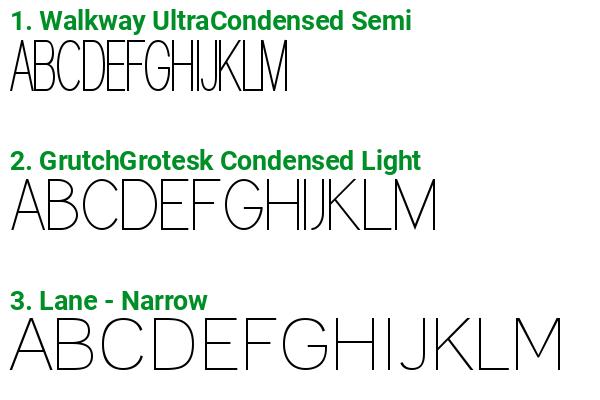 Fonts similar to Vivala G Slab Thin Condensed